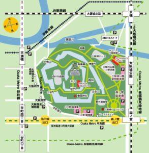 大阪城周辺図