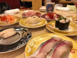 美味しいお寿司の数々